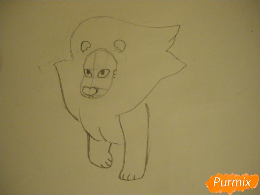 Рисуем льва Стивена из Вселенная Стивена карандашами - шаг 4