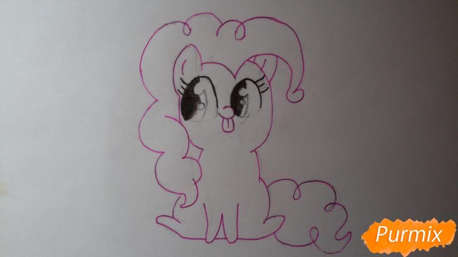 Рисуем малышку Пинки Пай - шаг 5