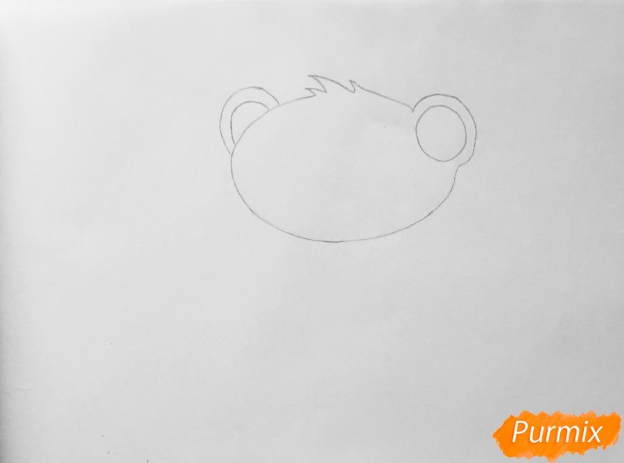 Рисуем мангуста Сунила из мультфильма My Littlest Pet Shop - шаг 1
