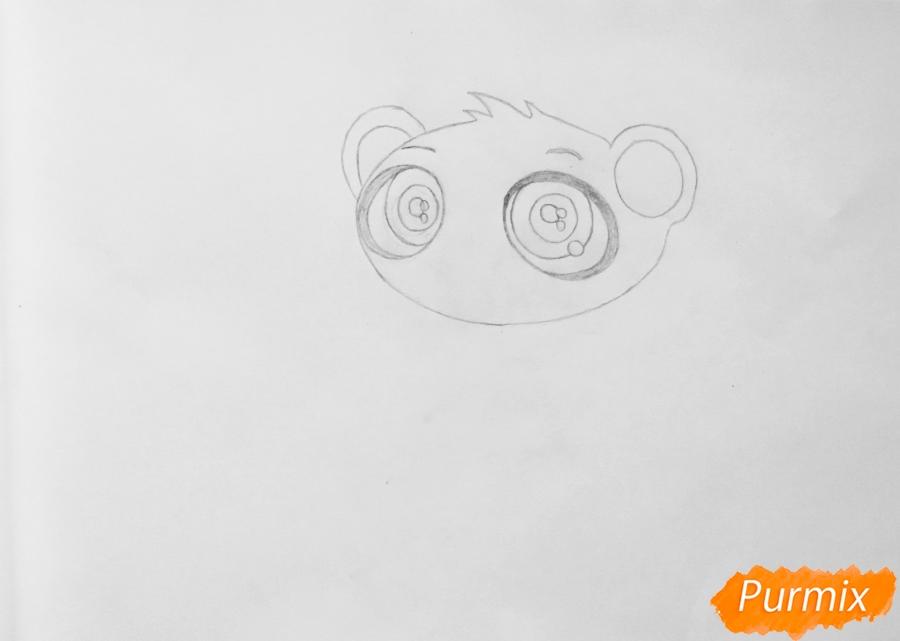 Рисуем мангуста Сунила из мультфильма My Littlest Pet Shop - шаг 2