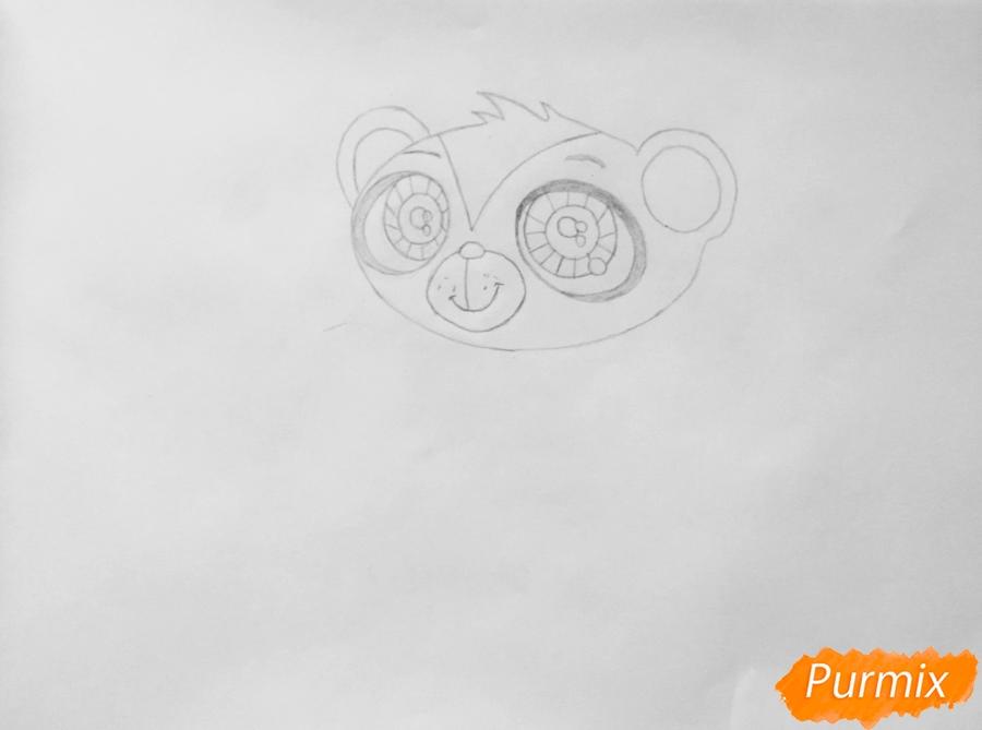 Рисуем мангуста Сунила из мультфильма My Littlest Pet Shop - шаг 3