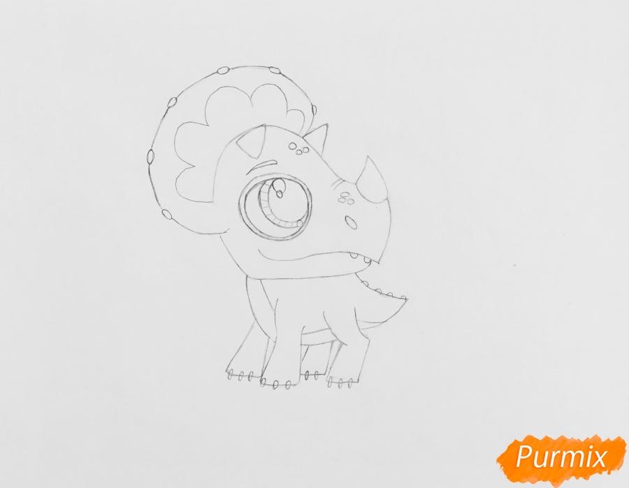 Рисуем Минг-Линга из мультфильма My Littlest Pet Shop - шаг 4
