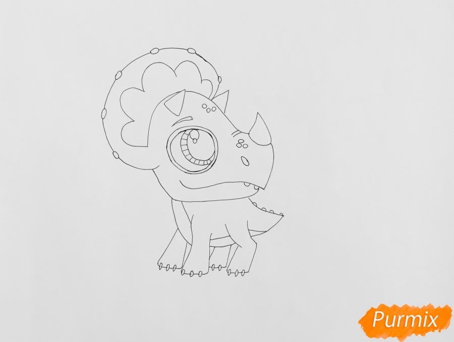 Рисуем Минг-Линга из мультфильма My Littlest Pet Shop - шаг 5