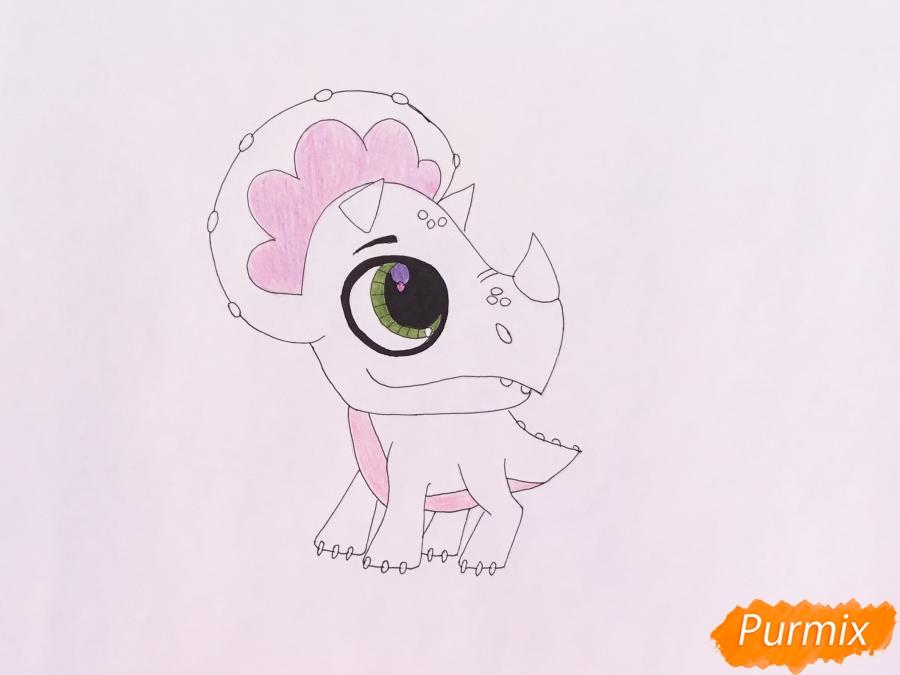 Рисуем Минг-Линга из мультфильма My Littlest Pet Shop - шаг 6