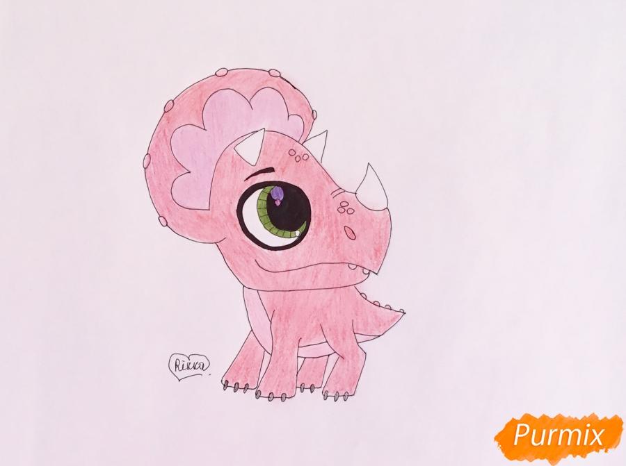 Как нарисовать Минг-Линга из мультфильма My Littlest Pet Shop карандашом поэтапно