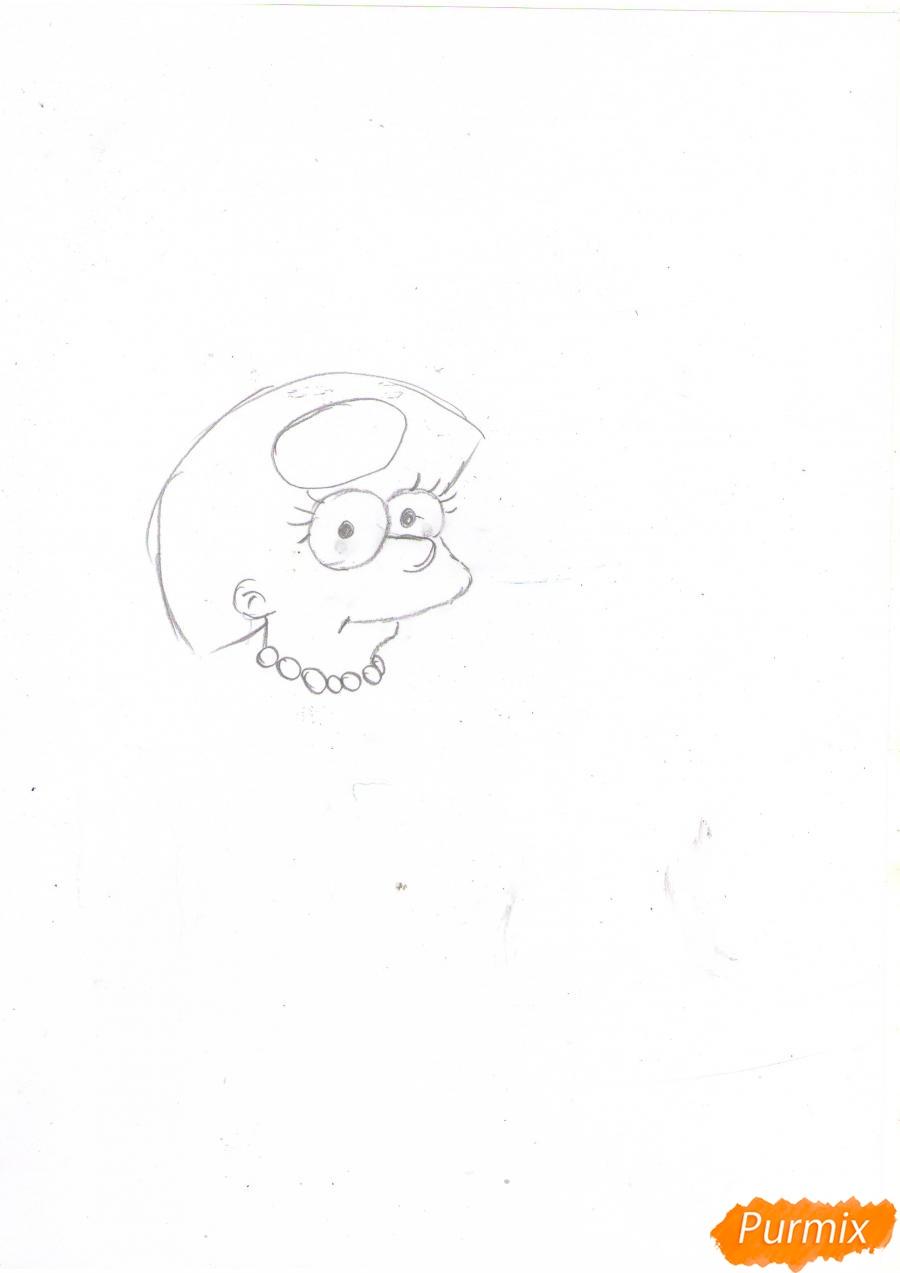 Рисуем Мэгги Симпсон в платье из мультфильма Симпсоны - шаг 1