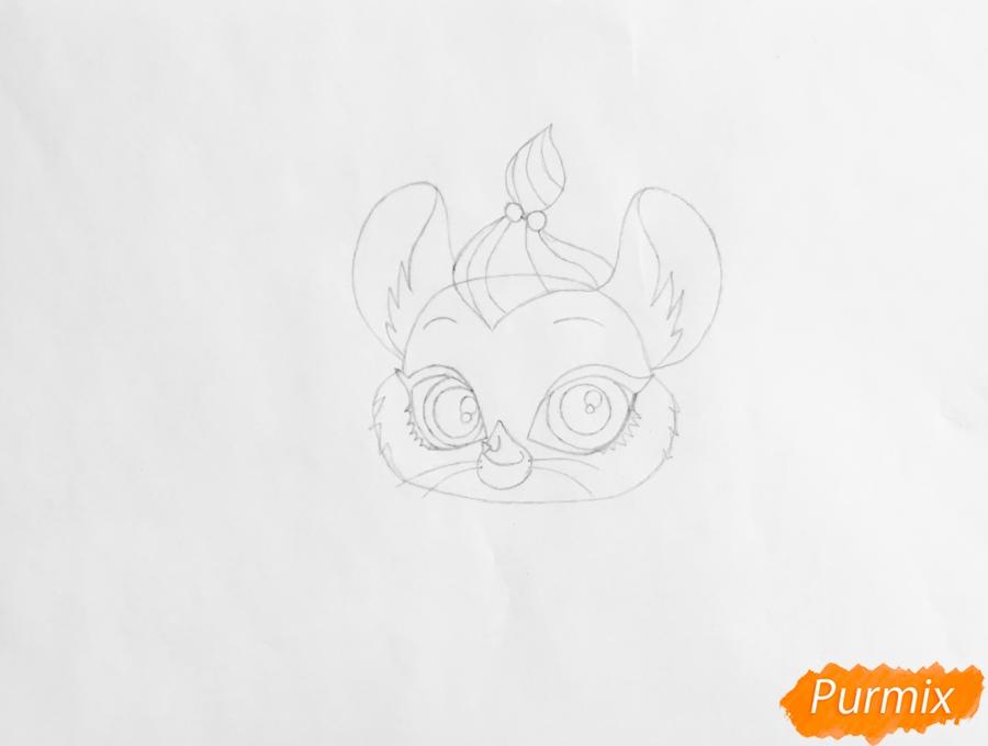 Рисуем мышку Кашемир из мультфильма My Littlest Pet Shop - шаг 3