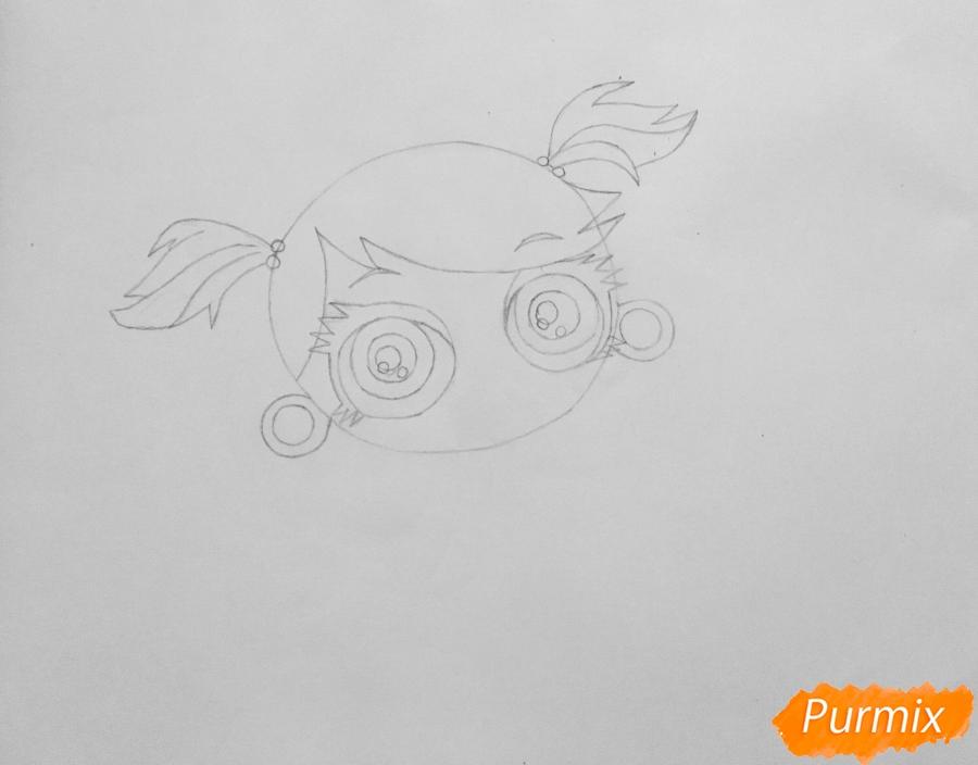 Рисуем обезьянку Минку из мультфильма:My Littlest Pet Shop - шаг 2