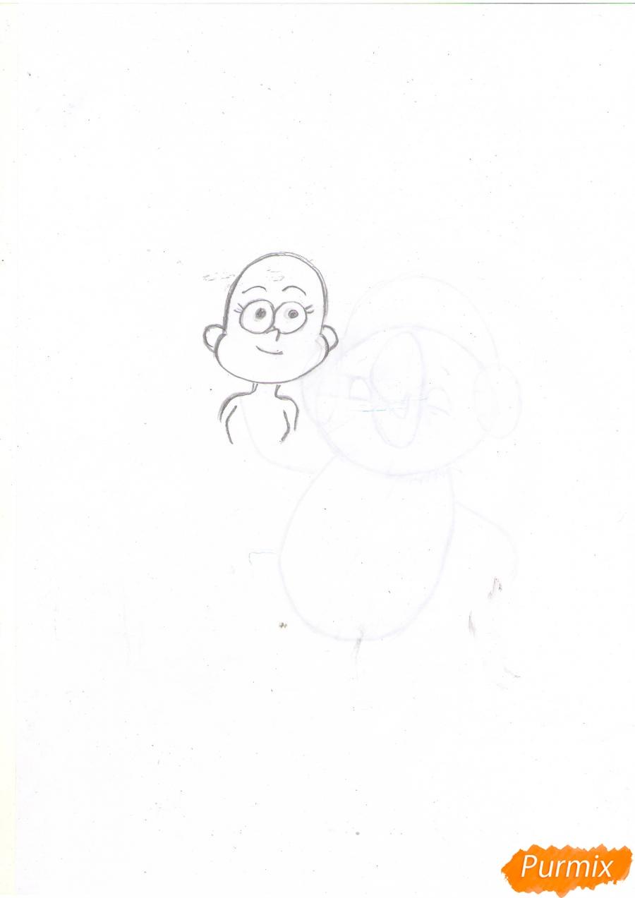 Рисуем Пасифику Нортвест из Гравити Фолз карандашами - шаг 2