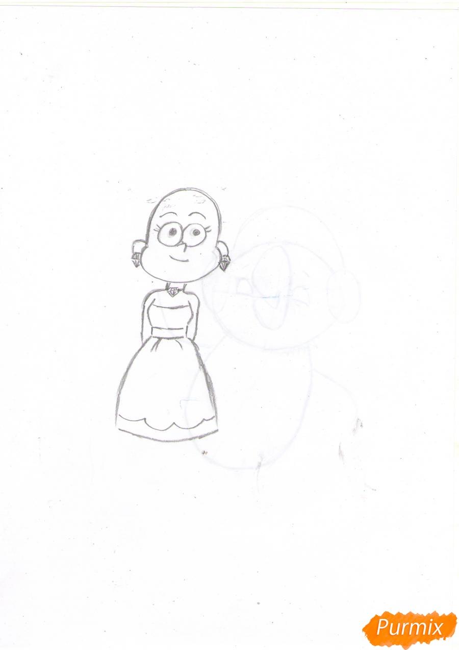 Рисуем Пасифику Нортвест из Гравити Фолз карандашами - шаг 3