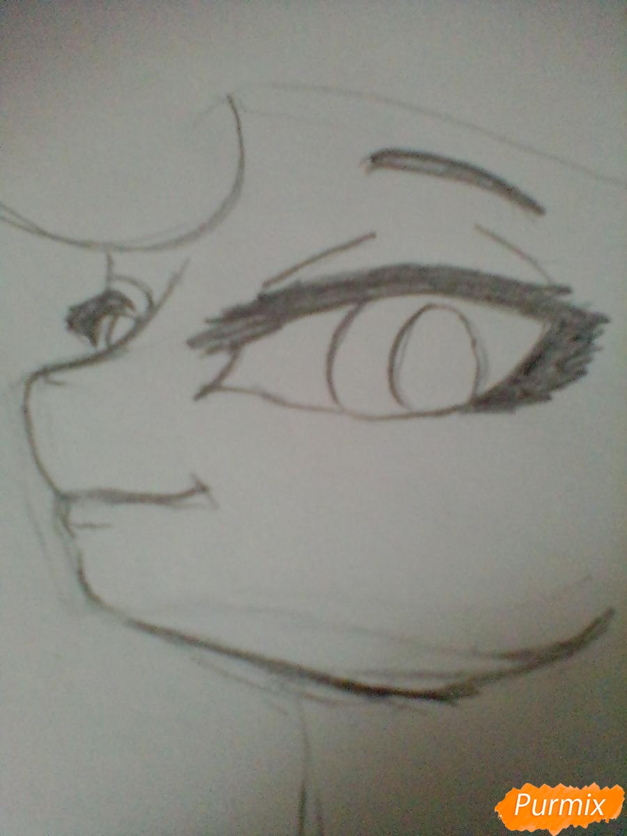 Рисуем пони Луна с чашкой - шаг 3