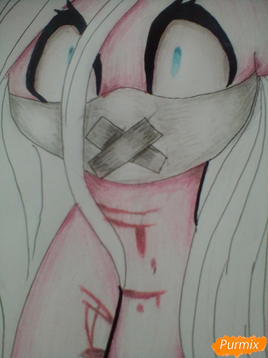 Рисуем пони Пинкамину Диану Пай в маске - шаг 11