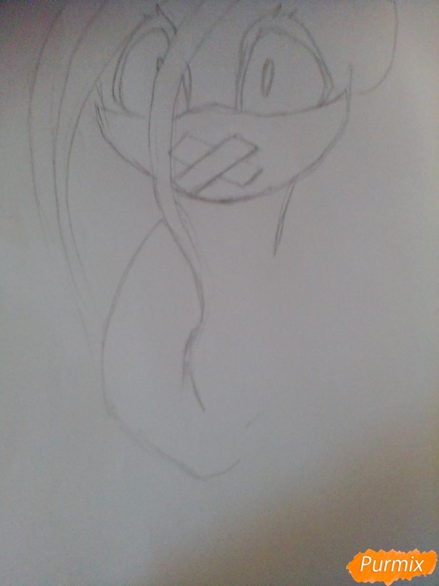 Рисуем пони Пинкамину Диану Пай в маске - шаг 4
