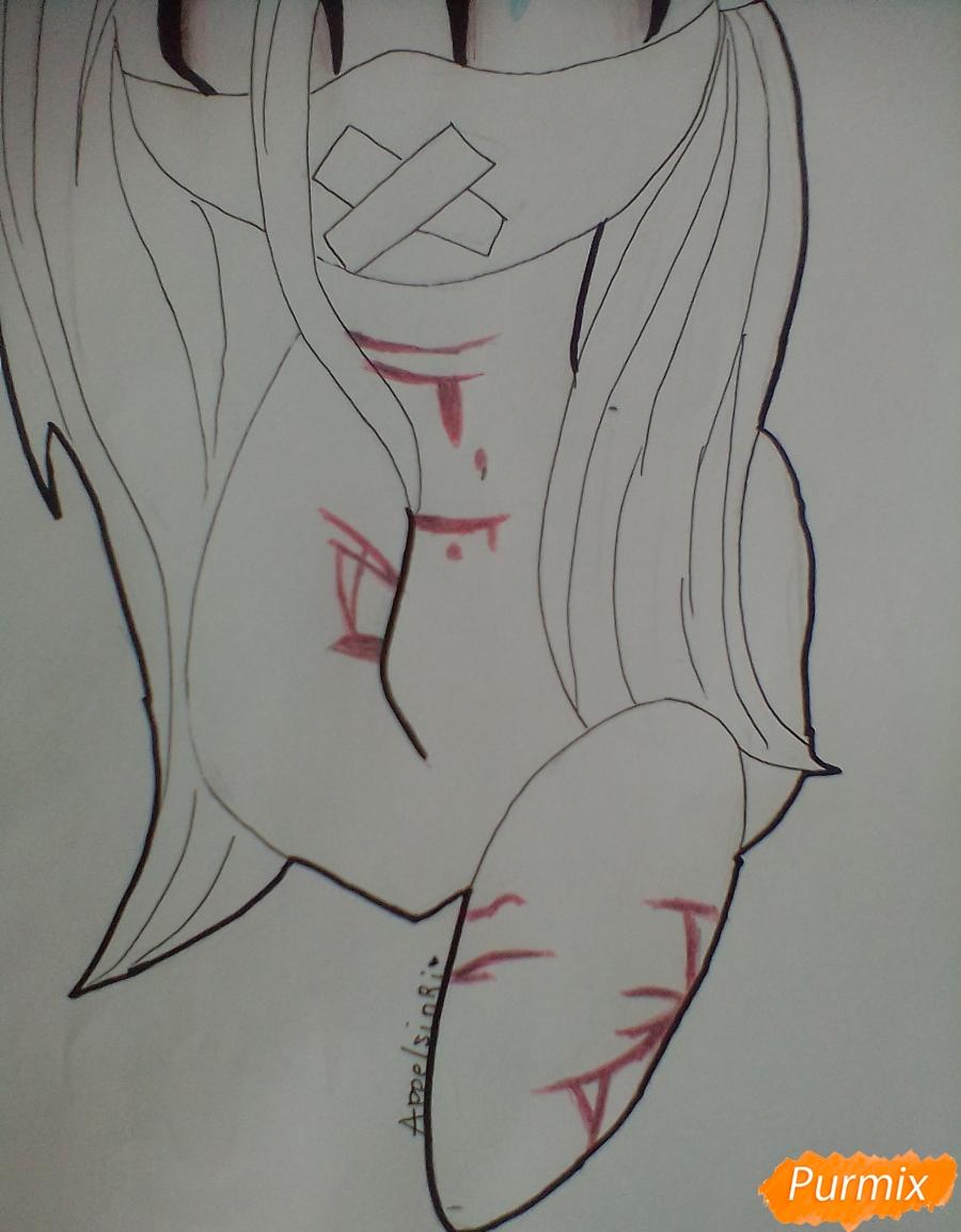 Рисуем пони Пинкамину Диану Пай в маске - шаг 9