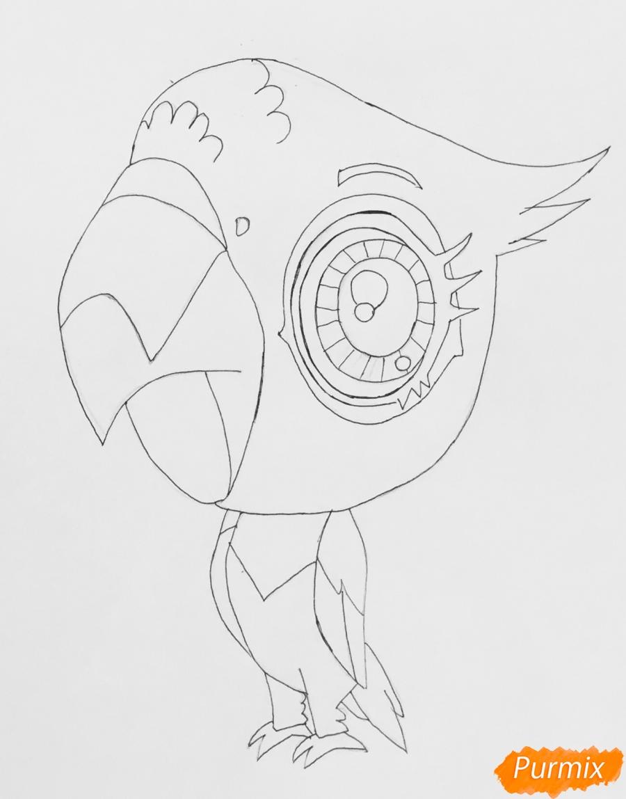 Рисуем попугая по имени Рамона из мультфильма My Littlest Pet Shop - фото 5