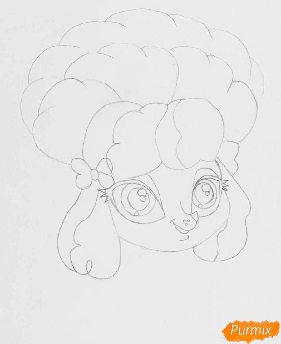 Рисуем розового пуделя из мультфильма My Littlest Pet Shop - шаг 4