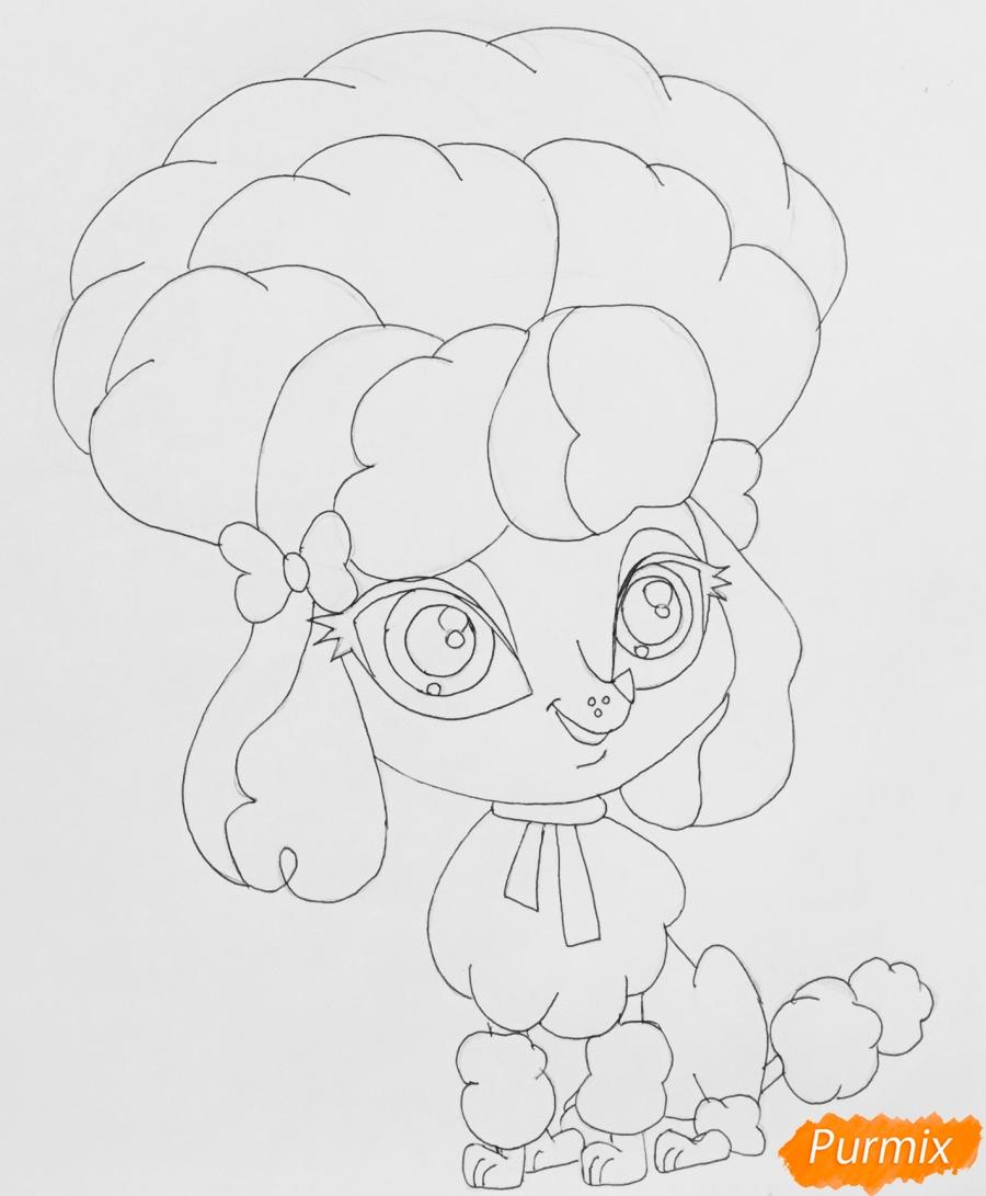 Рисуем розового пуделя из мультфильма My Littlest Pet Shop - шаг 6