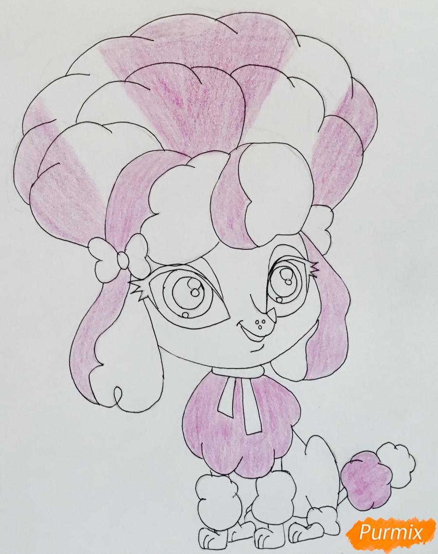 Рисуем розового пуделя из мультфильма My Littlest Pet Shop - шаг 7