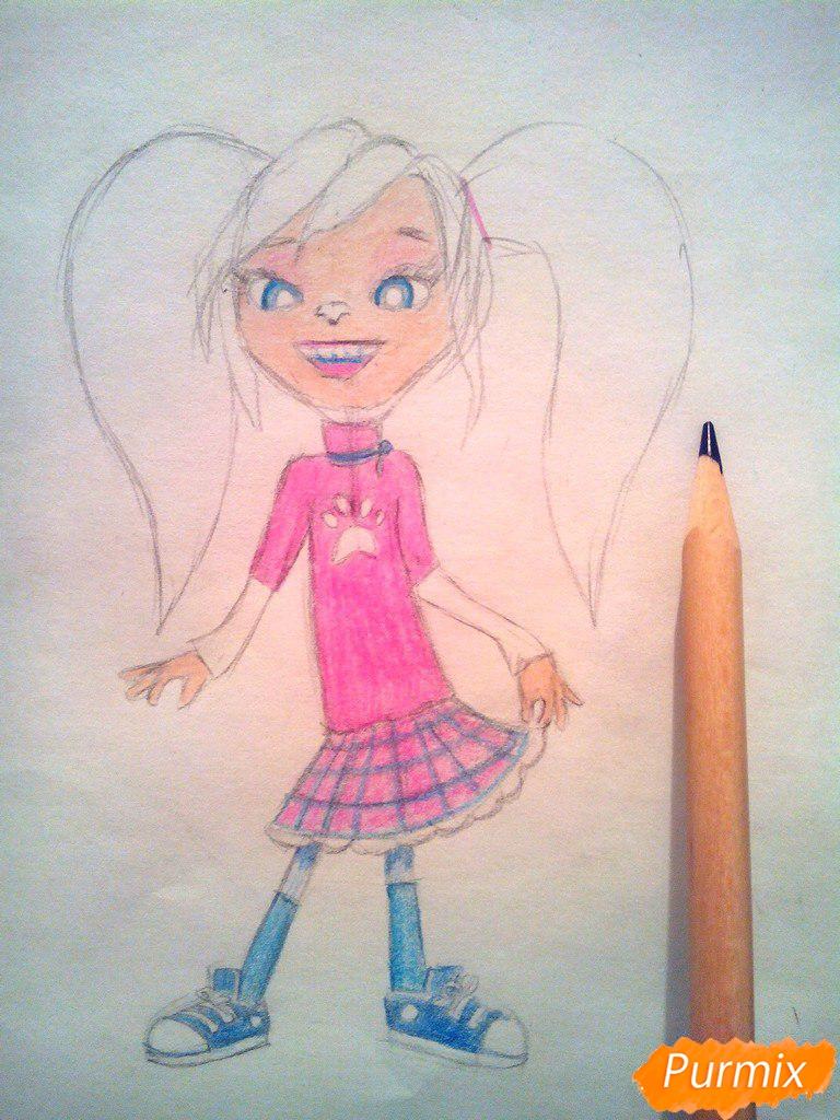 Рисуем Розу из мультфильма Барбоскины цветными - шаг 9