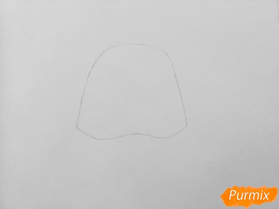Рисуем скунса Пеппер из мультфильма My Littlest Pet Shop - шаг 1