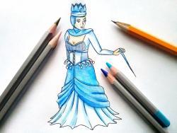 Рисунок Снежную королеву из сказки