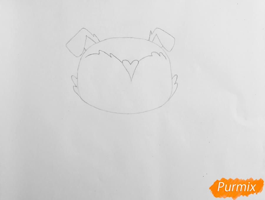 Рисуем собачку Чери Бау Бау из мультфильма My Littlest Pet Shop - шаг 2