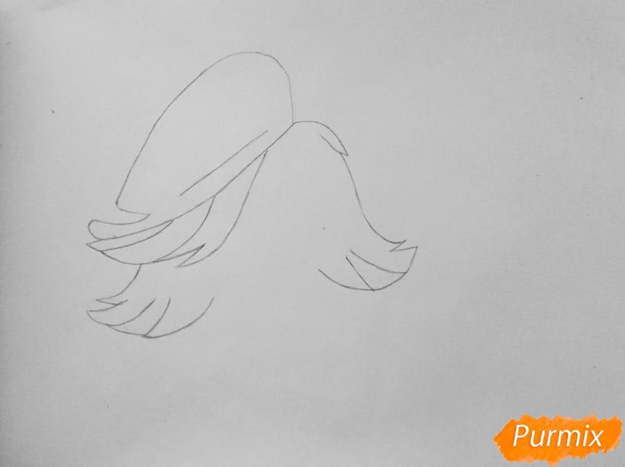 Рисуем собаку Зои из мультфильма: My Littlest Pet Shop - шаг 2