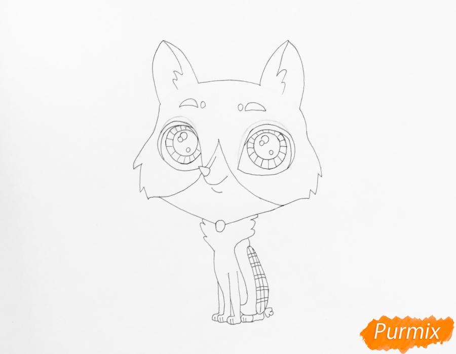 Рисуем собаку Бастера из мультфильма My Littlest Pet Shop - фото 5