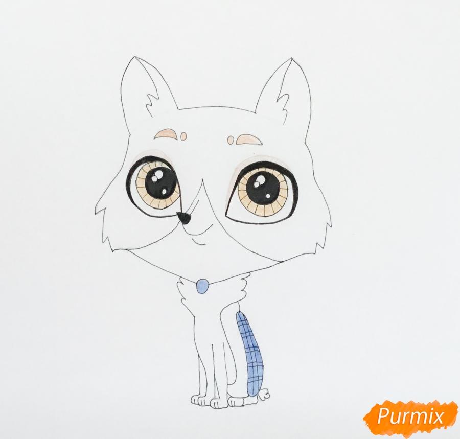 Рисуем собаку Бастера из мультфильма My Littlest Pet Shop - фото 6