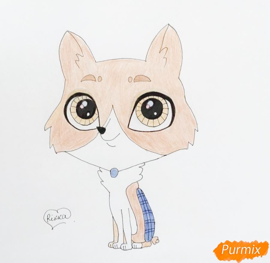 Как нарисовать собаку Бастера из мультфильма My Littlest Pet Shop карандашом поэтапно