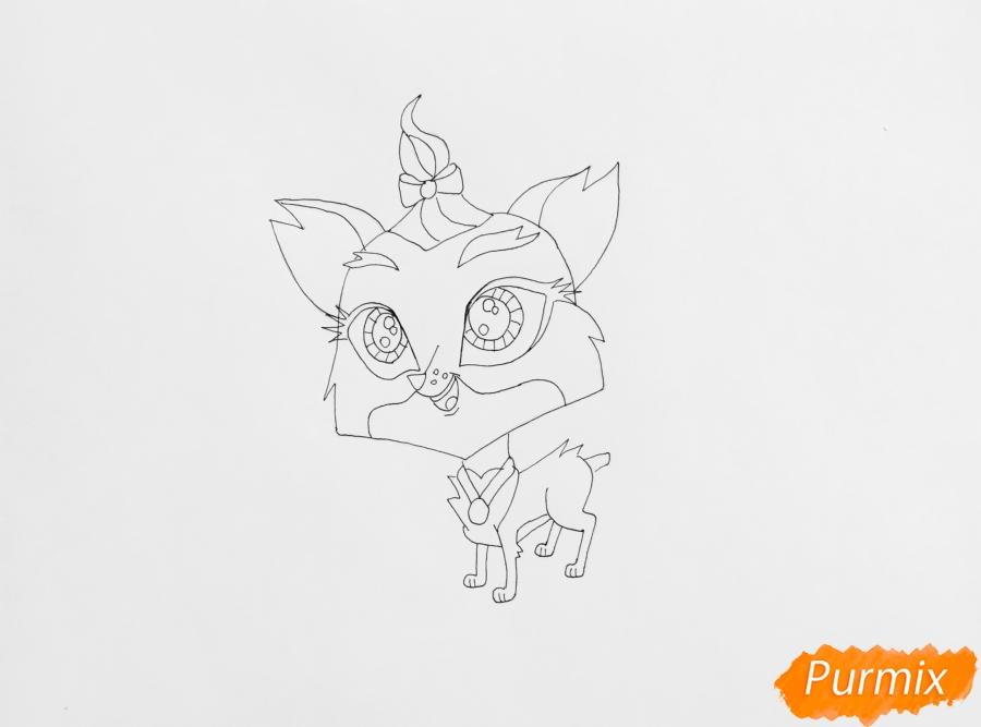 Рисуем собаку Бенсон из мультфильма LPS - шаг 5