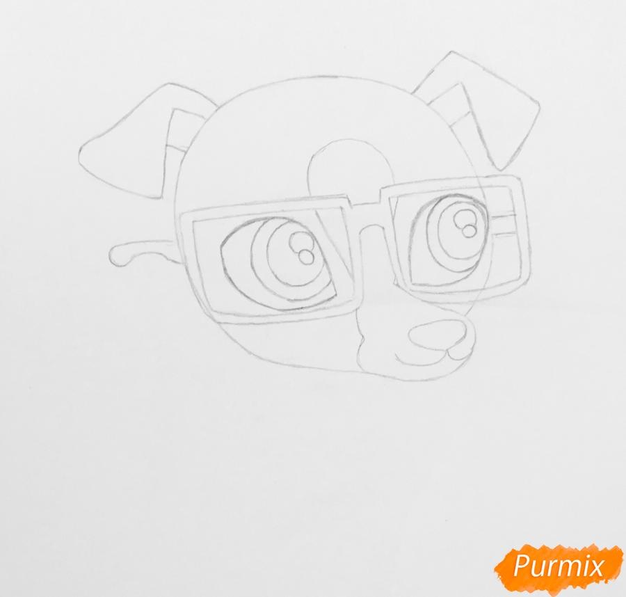 Рисуем собаку борзую из мультфильма My Littlest Pet Shop - фото 3