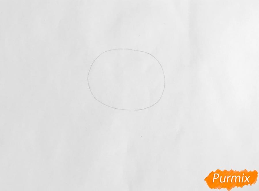 Рисуем собаку Филиппа из мультфильма My Littlest Pet Shop - шаг 1