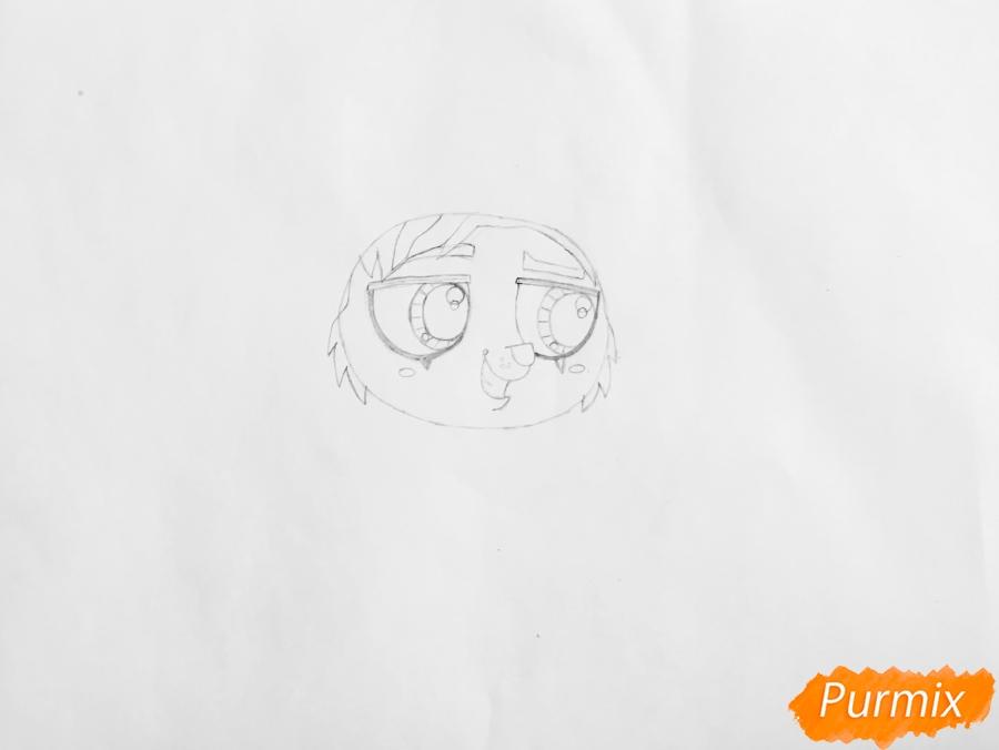 Рисуем собаку Филиппа из мультфильма My Littlest Pet Shop - шаг 2