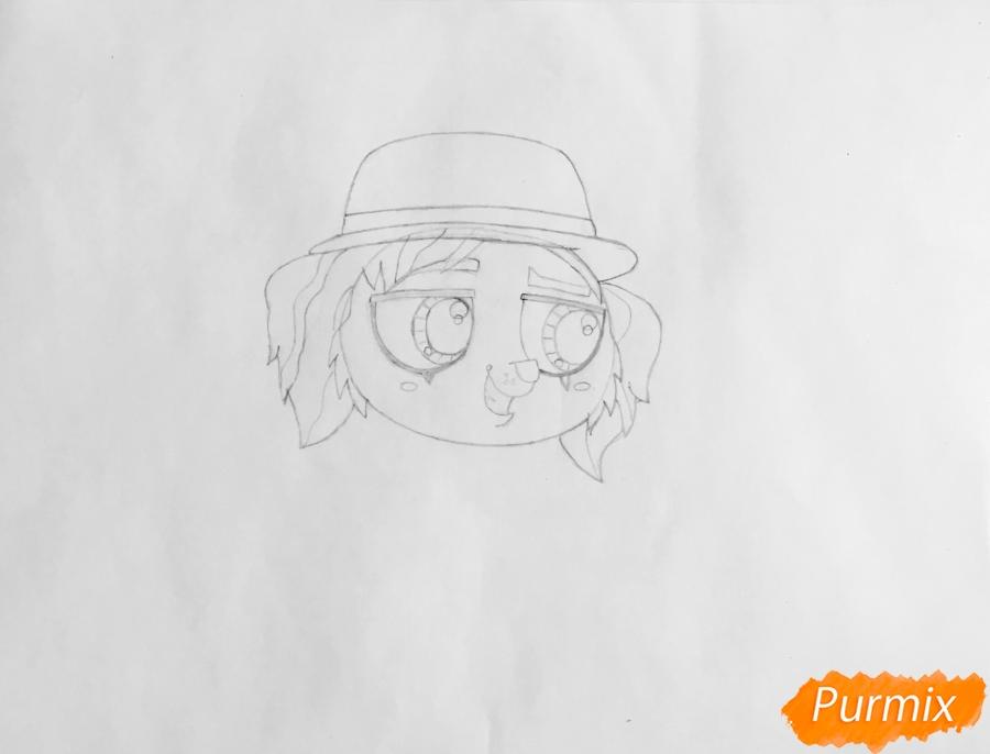 Рисуем собаку Филиппа из мультфильма My Littlest Pet Shop - шаг 3
