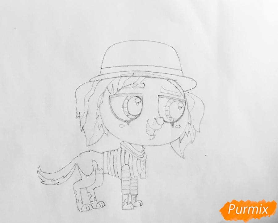 Рисуем собаку Филиппа из мультфильма My Littlest Pet Shop - шаг 5