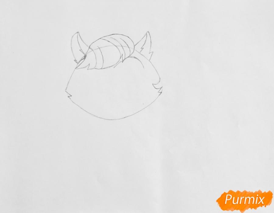 Рисуем собаку Мадам Пом из мультфильма My Littlest Pet Shop - шаг 2