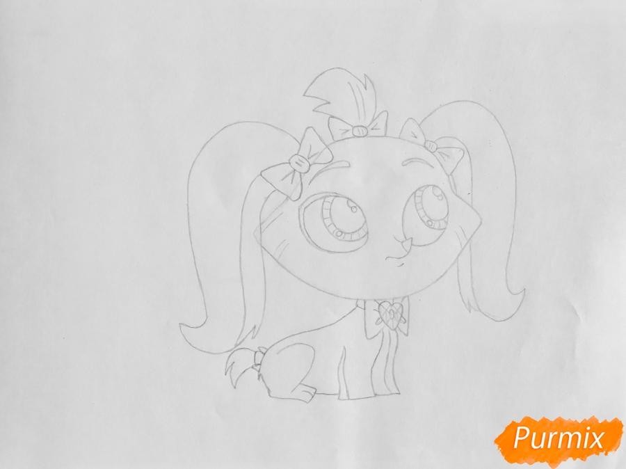 Рисуем собаку Принцессу Стори из мультфильма My Littlest Pet Shop - фото 4