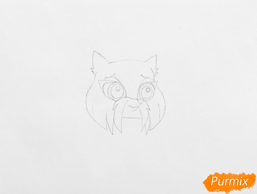 Рисуем собаку Шеа из мультфильма My Littlest Pet Shop - шаг 2