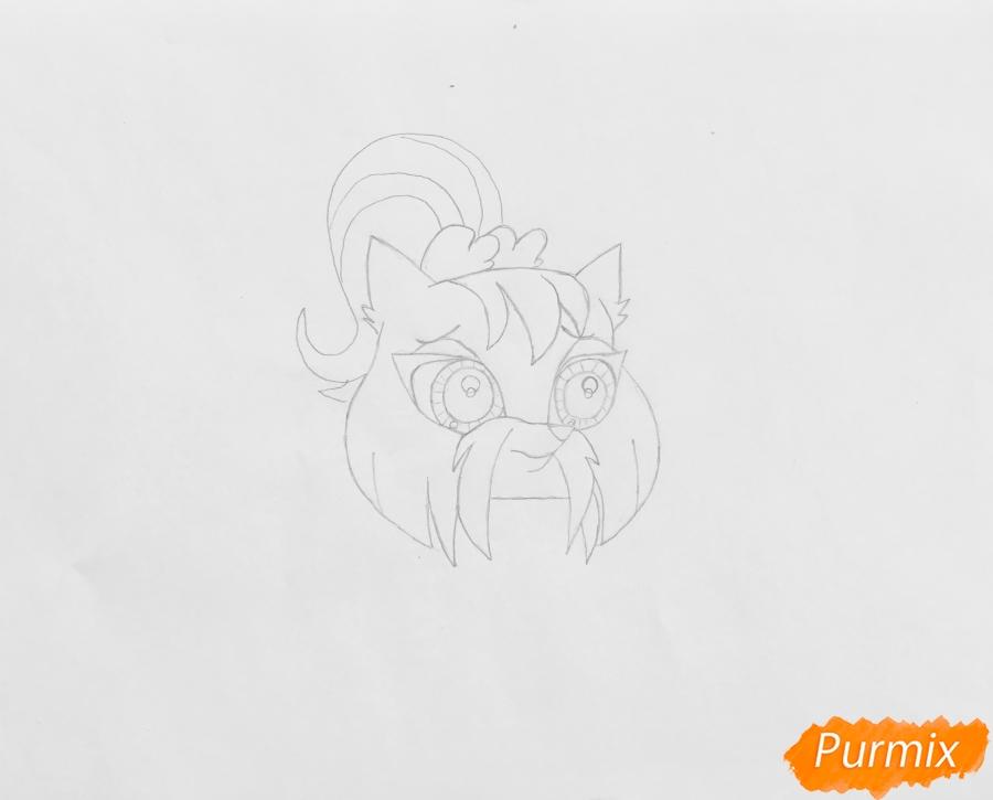 Рисуем собаку Шеа из мультфильма My Littlest Pet Shop - шаг 3