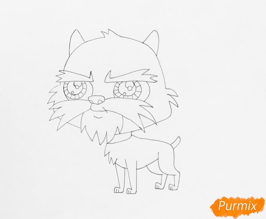 Рисуем собаку Сэма из мультфильма My Littlest Pet Shop - фото 5