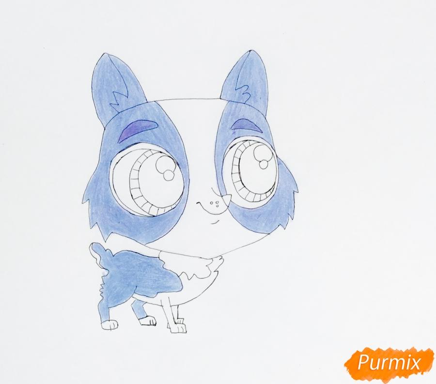 Рисуем собаку Тангера из мультфильма My Littlest Pet Shop - фото 6