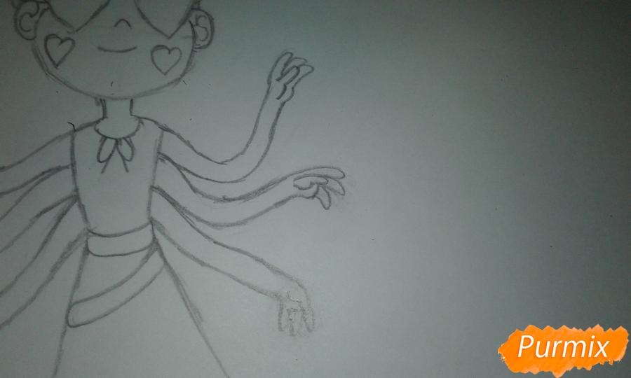 Рисуем Стар Баттерфляй во время Мьюзревания - шаг 10