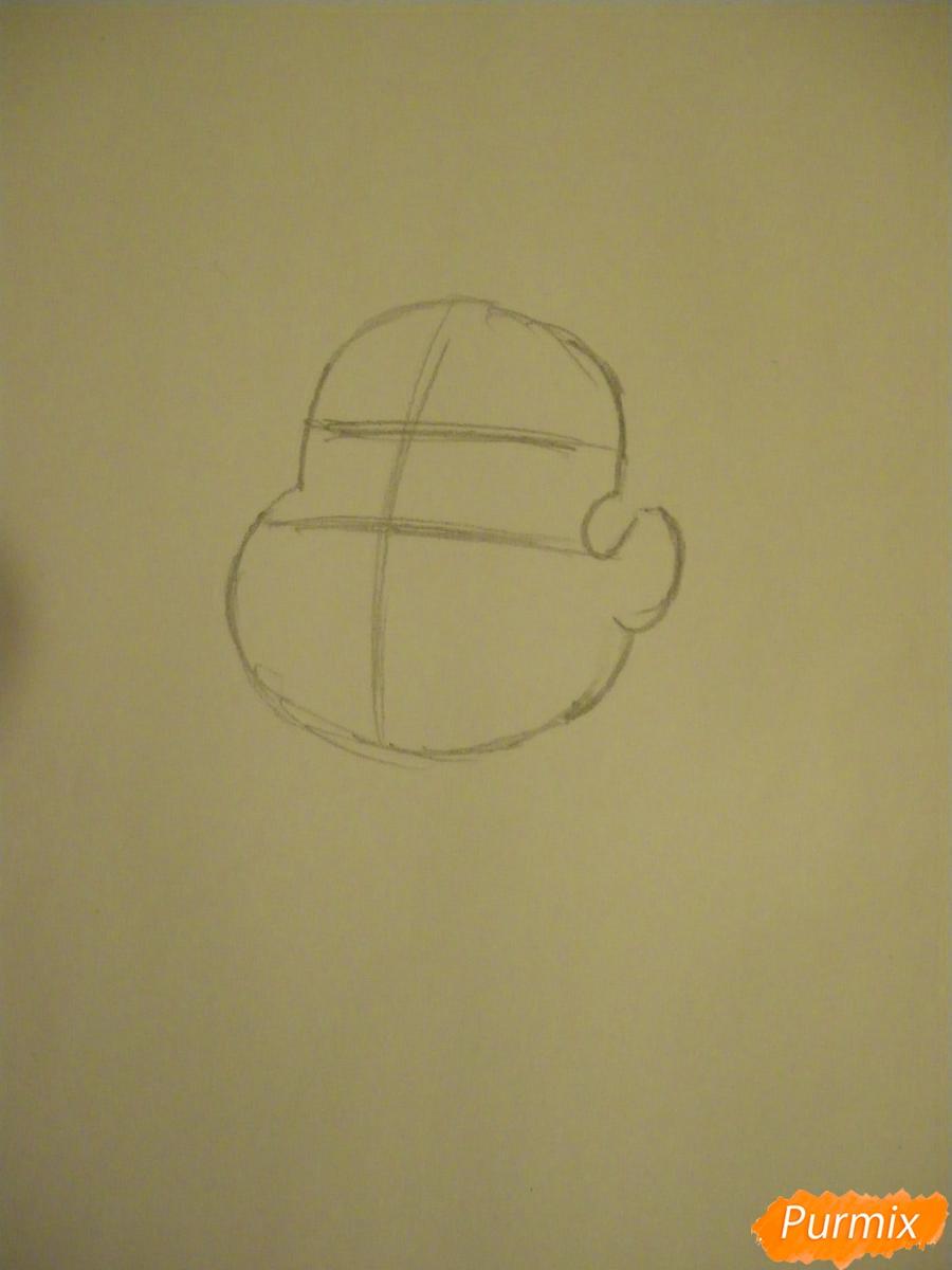 Рисуем Стивена Юниверса из Вселенная Стивена карандашами - шаг 1