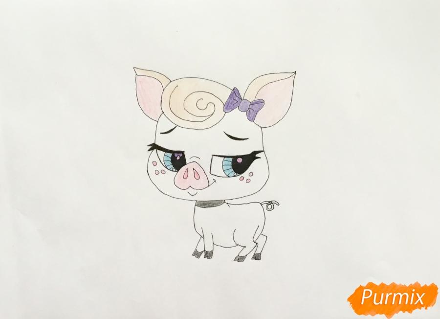 Рисуем свинку Лолли Пинкингтон из мультфильма My Littlest Pet Shop - фото 6