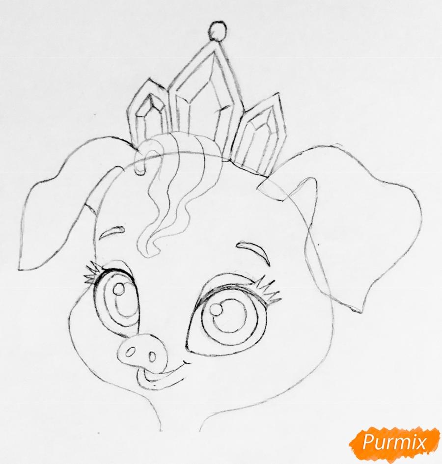 Рисуем свинью по имени Truffles питомца Рапунцель из мультфильма palace pets - фото 4