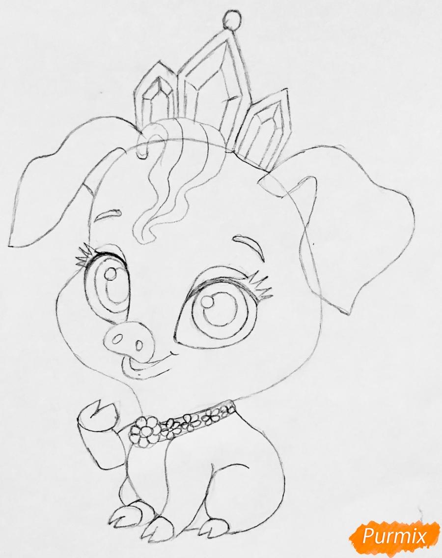 Рисуем свинью по имени Truffles питомца Рапунцель из мультфильма palace pets - фото 5