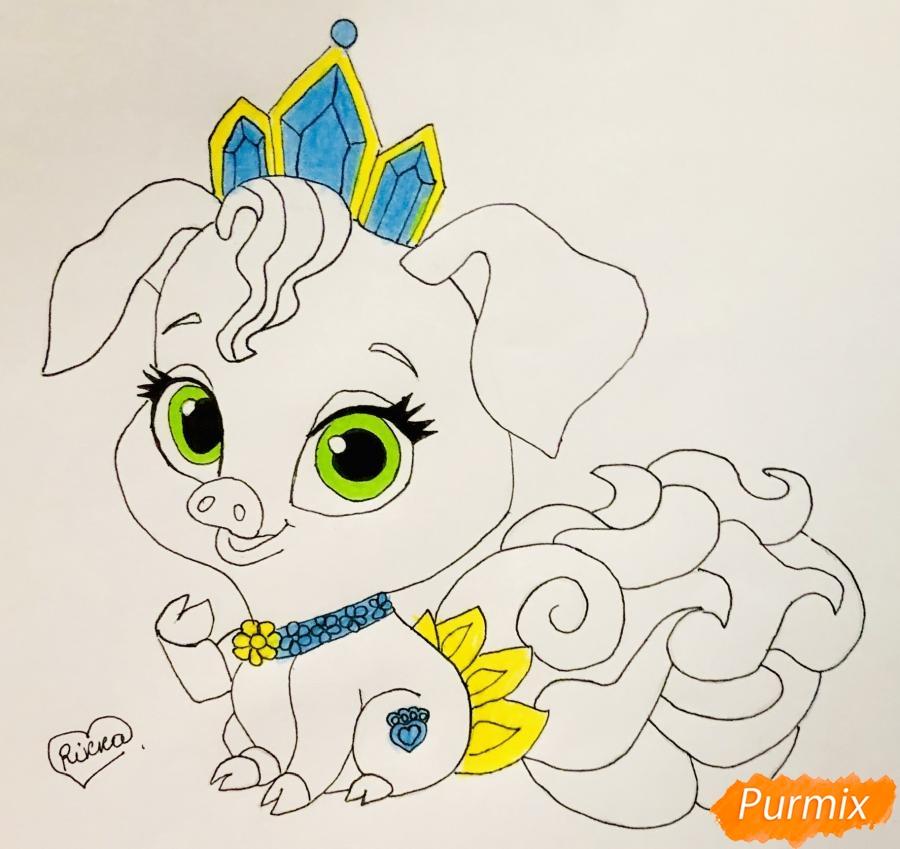 Рисуем свинью по имени Truffles питомца Рапунцель из мультфильма palace pets - фото 8