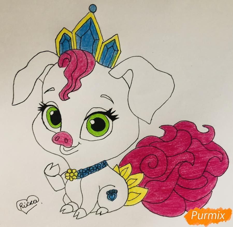 Рисуем свинью по имени Truffles питомца Рапунцель из мультфильма palace pets - фото 9