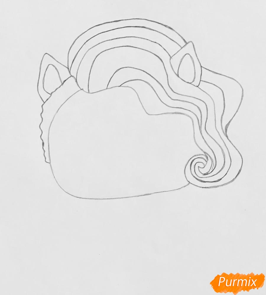 Рисуем волчёнка из мультфильма Lol Pets - фото 2